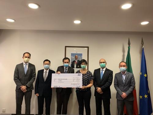 A CCILC-Macau doa 50.000 patacas para apoiar os trabalhos anti-pandemia em Portugal